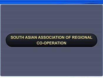 Animated video Lecture for South Asian Association of Regional Co-operation
