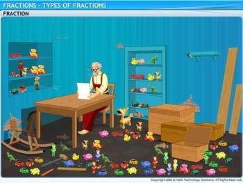 Animated video Lecture for Types of Fractions