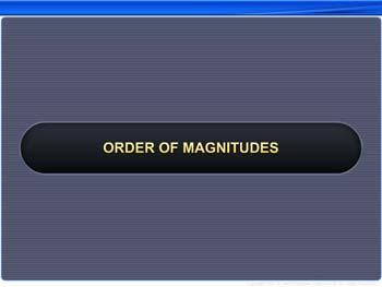 Animated video Lecture for Order of Magnitudes