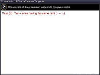 Animated video Lecture for Construction of Direct Common Tangents