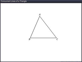 Animated video Lecture for Concurrent Lines of a Triangle