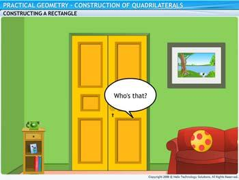 Animated video Lecture for Construction of Quadrilaterals
