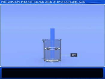 Animated video Lecture for Preparation, Properties and Uses of Hydrogen Chloride