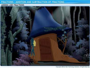 Animated video Lecture for Addition and Subtraction of Fractions