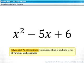 Animated video Lecture for Factor Theorem