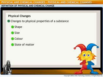 Animated video Lecture for Physical and Chemical Changes