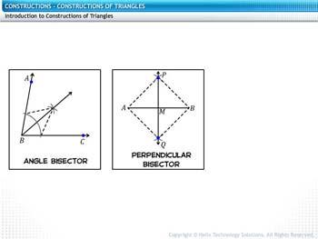 Animated video Lecture for Constructions of Triangles
