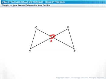 Animated video Lecture for Areas of Triangles