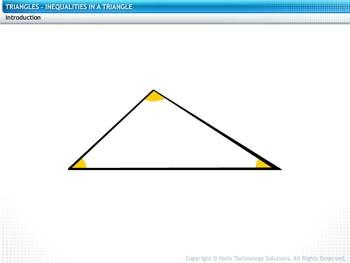 Animated video Lecture for Inequalities in a Triangle