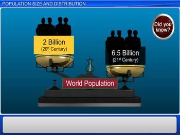 Animated video Lecture for Population Size and Distribution