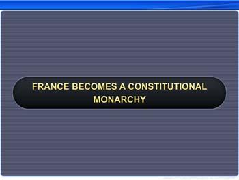Animated video Lecture for France Becomes a Constitutional Monarchy