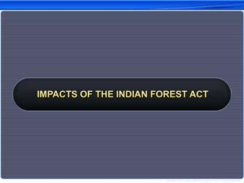 Animated video Lecture for Impacts of the Indian Forest Act
