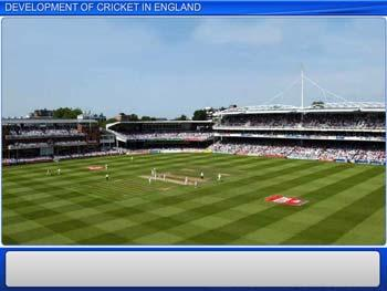 Animated video Lecture for Development of Cricket in England