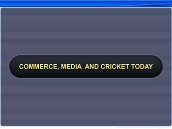 Animated video Lecture for Commerce, Media and Cricket Today