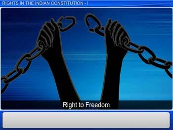 Animated video Lecture for Rights In The Indian Constitution - I