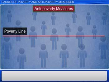 Animated video Lecture for Causes of Poverty and Antipoverty Measures