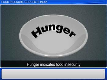 Animated video Lecture for Food Insecure Groups in India