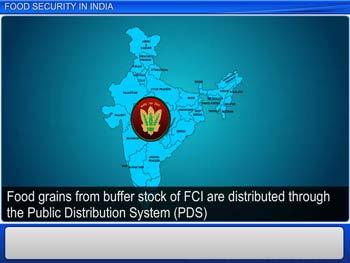 Animated video Lecture for Food security system in India