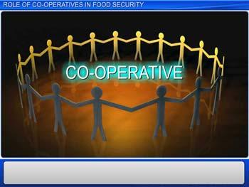 Animated video Lecture for Role of Cooperatives in Food Security