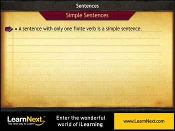 Animated video Lecture for Simple and Compound Sentences