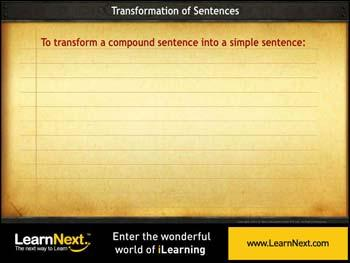 Animated video Lecture for Transformation From Compound to Simple Sentences