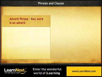 Animated video Lecture for Adverbial Phrase and Adverbial Clause