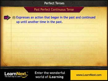 Animated video Lecture for Past Perfect Continuous Tense