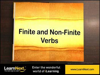 Animated video Lecture for Differentiating Finite and Non Finite Verbs