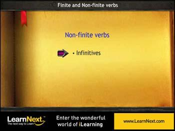 Animated video Lecture for Non Finite Verbs - Kinds