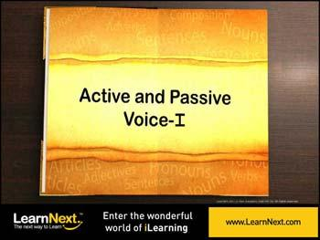 Animated video Lecture for Active and Passive Voice - Rules to Convert
