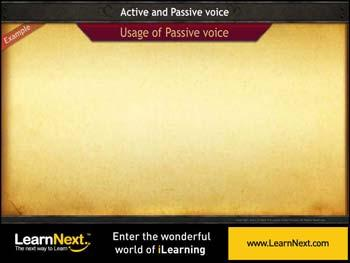 Animated video Lecture for Passive Voice - Usage in Different Tenses