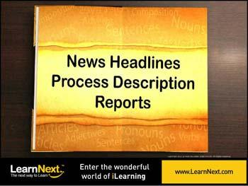 Animated video Lecture for Newspaper Headlines and Process Description