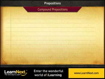 Animated video Lecture for Compound Prepositions