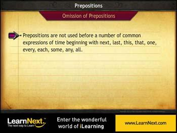 Animated video Lecture for Omissions - Prepositions