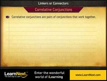 Animated video Lecture for Correlative Conjunctions