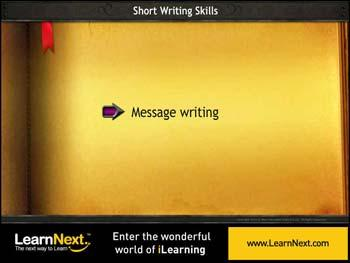 Animated video Lecture for Message Writing - Format and Sample