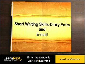 Animated video Lecture for Diary Entry - Format and Sample