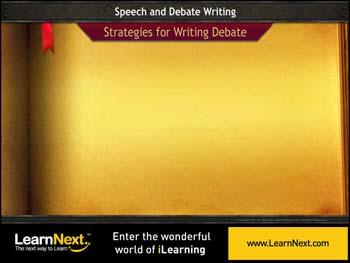 Animated video Lecture for Debate Writing