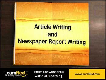 Animated video Lecture for Article Writing - Format
