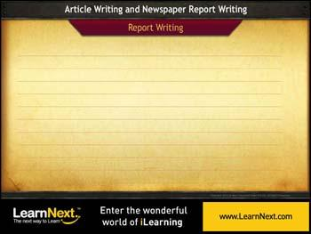 Animated video Lecture for Report Writing - Activity