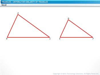 Animated video Lecture for Criteria for Similarity of Triangles