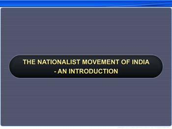 Animated video Lecture for The Nationalist Movement of India - An Introduction