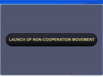 Animated video Lecture for Launch of Non-Cooperation Movement
