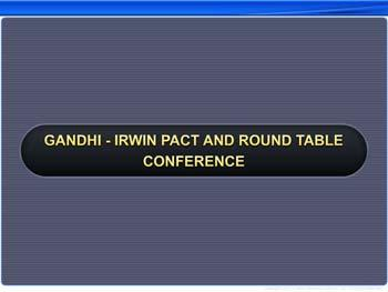 Animated video Lecture for Gandhi-Irwin Pact and Round Table Conference