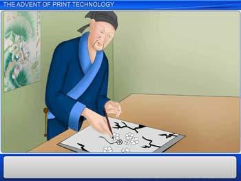 Animated video Lecture for The Advent of Print Technology