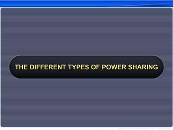 Animated video Lecture for The Different Types of Power Sharing
