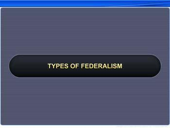 Animated video Lecture for Types of Federalism