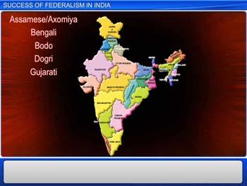 Animated video Lecture for Success of Federalism in India