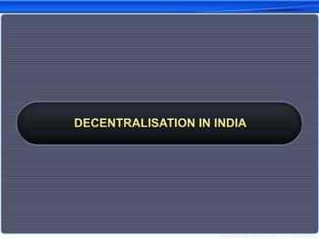 Animated video Lecture for Decentralization in India