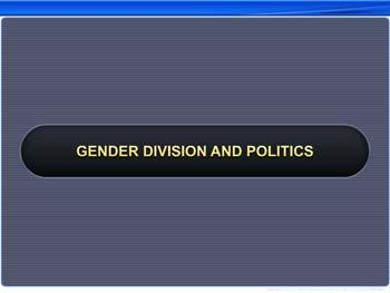 Animated video Lecture for Gender Division and Politics